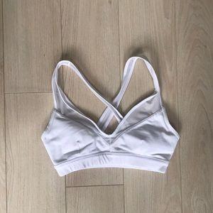 Alo Yoga white mesh bra size small